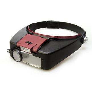 Лупа MG81007-A (налобная с подсветкой)