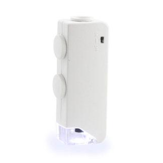 Мини-микроскоп 160х-200х, LED подсветка, футляр