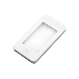 Лупа G188 белая (128мм х 64мм х 10мм, 2,5х/4х, LED подсв.футляр)